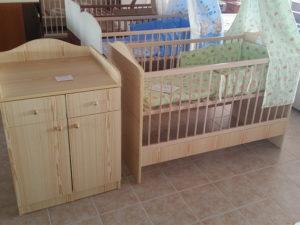 140x70cm átalakíthatós ágy (bükk)