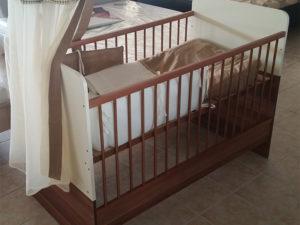 140x70cm átalakíthatós ágy (szilva-beige)