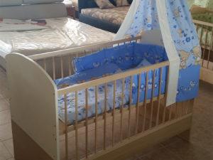 140x70cm átalakíthatós ágy (tölgy-beige)