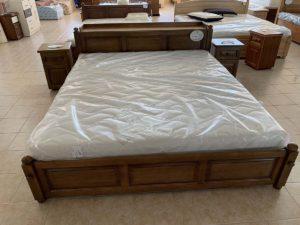Fejvégnél ágyneműtartós (180cm) keményfakeretes ágy (raktáron)