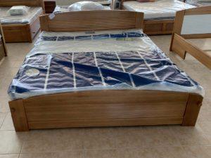 Mart mintás (180cm) keményfakeretes ágy (raktáron)