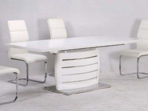 Triest magasfényű étkezőasztal