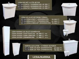 Leda/Karina fürdőszobabútor