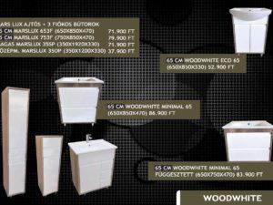Woodwhite fürdőszobabútor